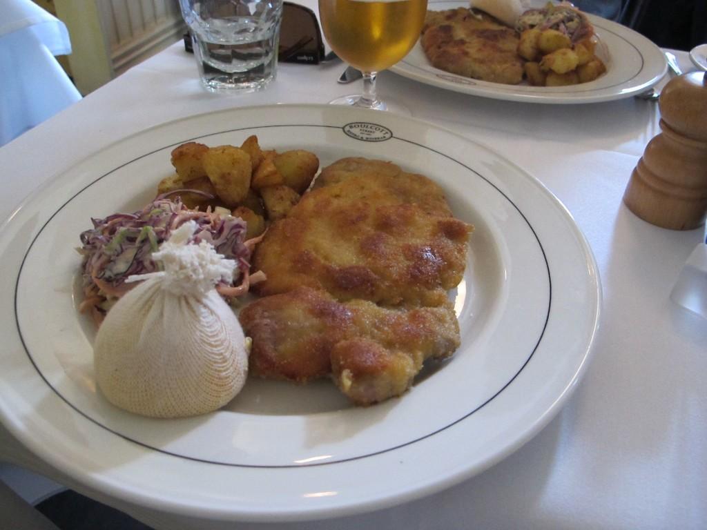 Wellington restaurants lunch free range pork schnitzel